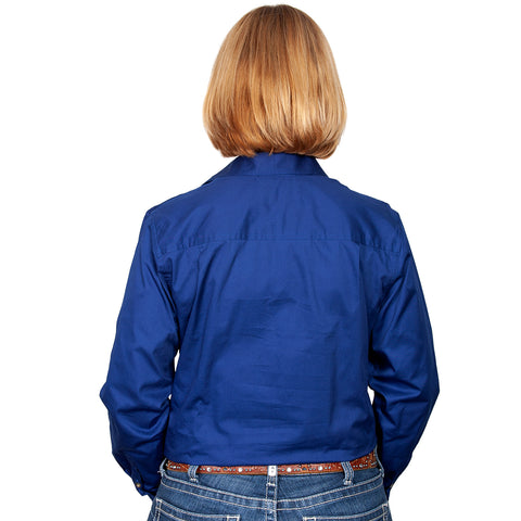 Just Country Workshirt Women's Brooke Cobalt back
