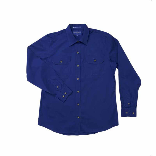 Just Country Workshirt Women's Brooke Cobalt