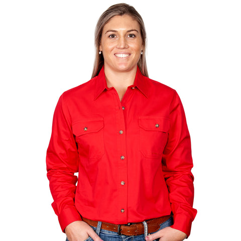 Just Country Workshirt Women's Brooke Chilli front