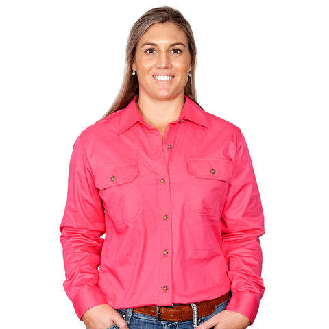 Just Country Workshirt Women's Brooke Hot Pink front