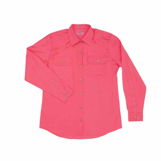 Just Country Workshirt Women's Brooke Hot Pink