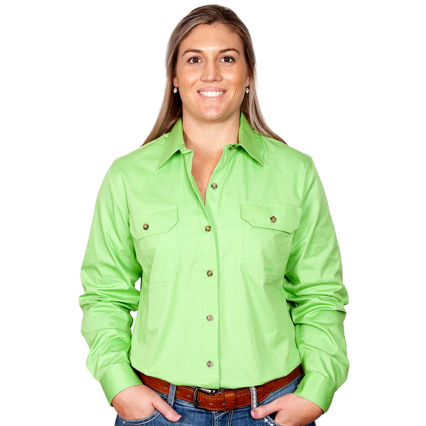 Just Country Workshirt Women's Brooke Lime front