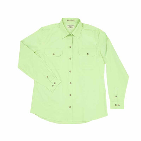 Just Country Workshirt Women's Brooke Lime