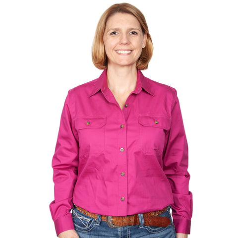 Just Country Workshirt Women's Brooke Magenta front