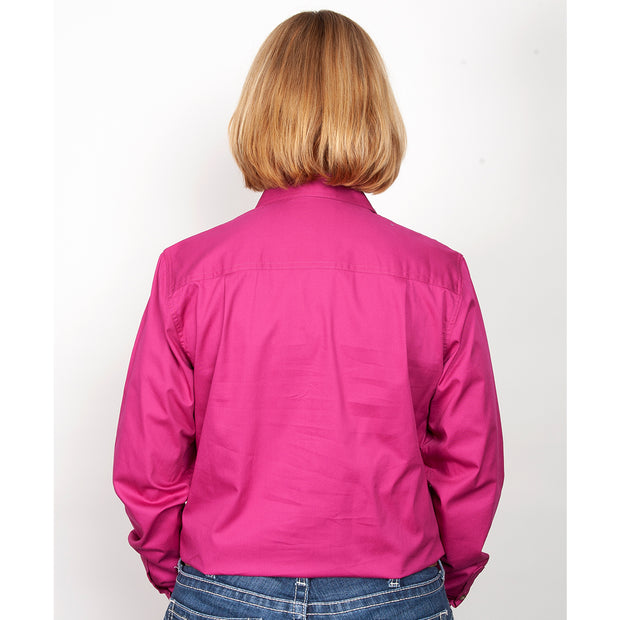 Just Country Workshirt Women's Brooke Magenta back