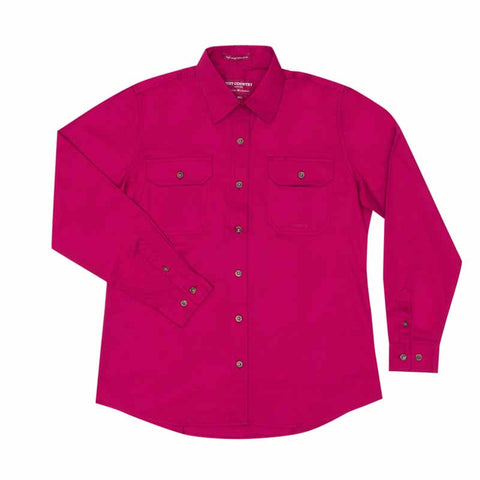 Just Country Workshirt Women's Brooke Magenta