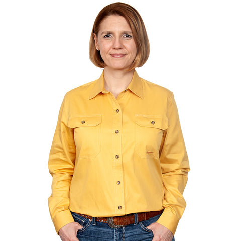 Just Country Women's - Brooke - Full Button Mustard - 50502MUS