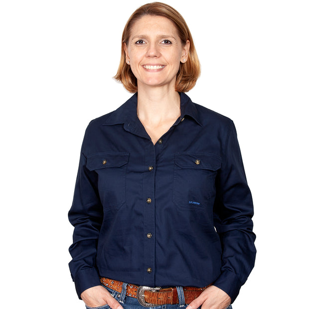 Just Country Workshirt Women's Brooke Navy front