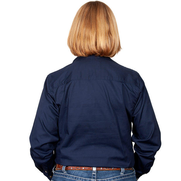 Just Country Workshirt Women's Brooke Navy back
