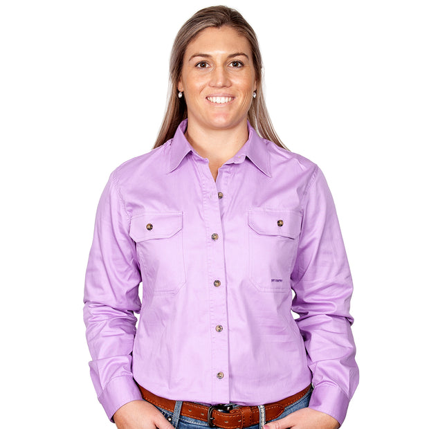 Just Country Workshirt Women's Brooke Orchid front