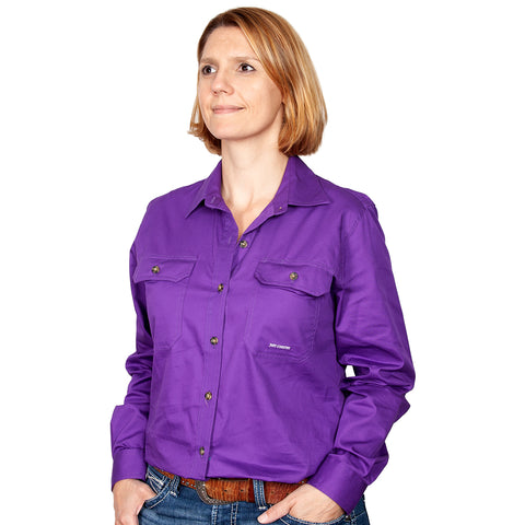 Just Country Workshirt Women's Brooke Purple front