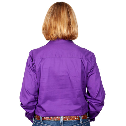 Just Country Workshirt Women's Brooke Purple back