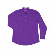 Just Country Workshirt Women's Brooke Purple