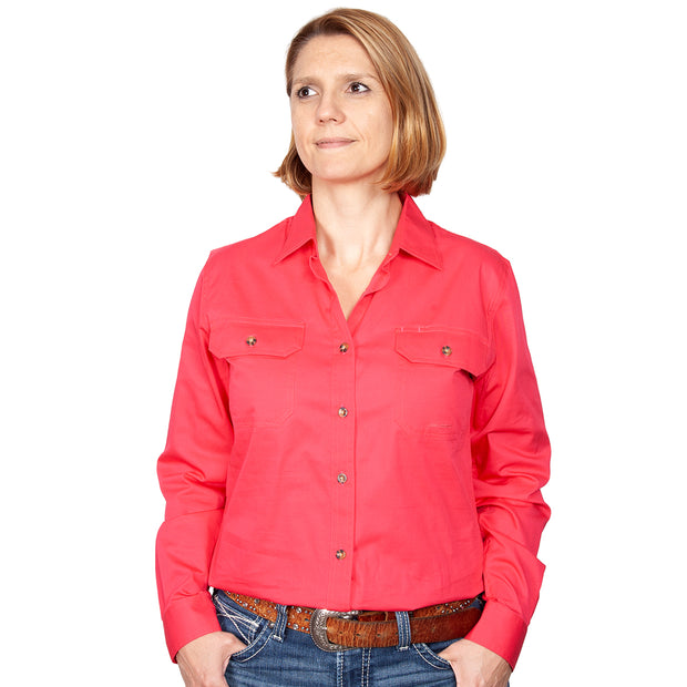 Just Country Workshirt Women's Brooke Raspberry front