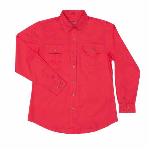 Just Country Workshirt Women's Brooke Raspberry