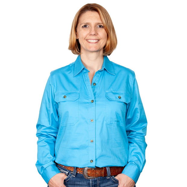 Just Country Workshirt Women's Brooke Sky front