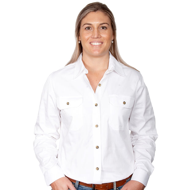 Just Country Workshirt Women's Brooke White front