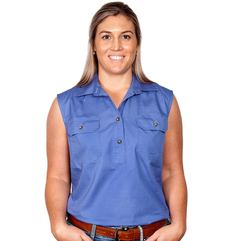 Just Country Workshirt Women's Kerry Blue front
