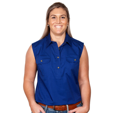 Just Country Workshirt Women's Kerry Cobalt front