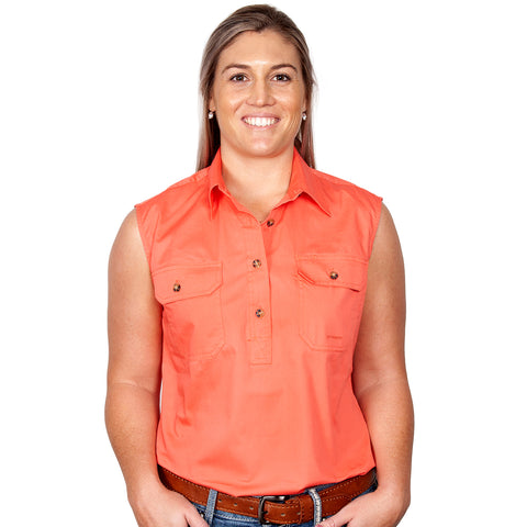 Just Country Workshirt Women's Kerry Hot Coral front