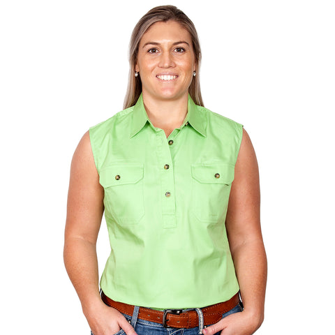 Just Country Women's Workshirt Kerry Lime Green 50503LGN front