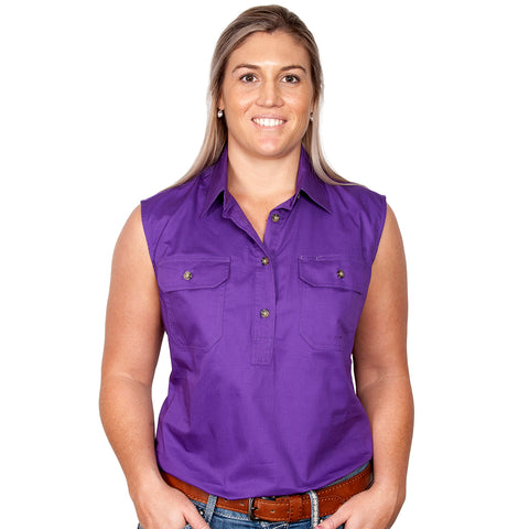 Just Country Workshirt Women's Kerry Purple front