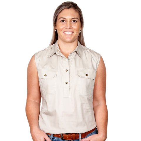 Just Country Women's Workshirt Kerry Stone 50503STN front