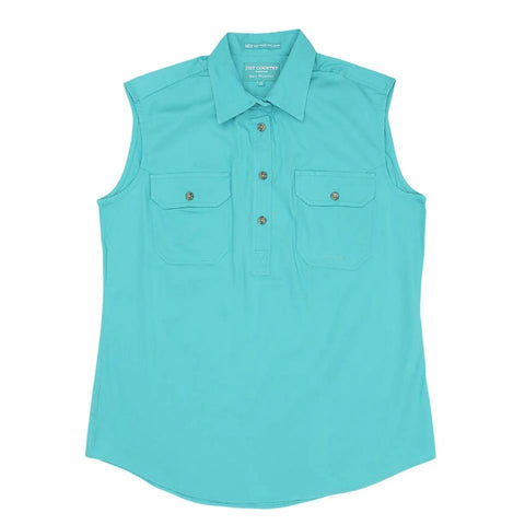 Just Country Women's Workshirt Kerry Turquoise 50503TUR