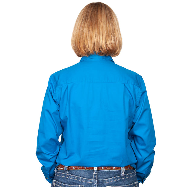 Just Country Workshirt Women's Jahna Blue Jewel back