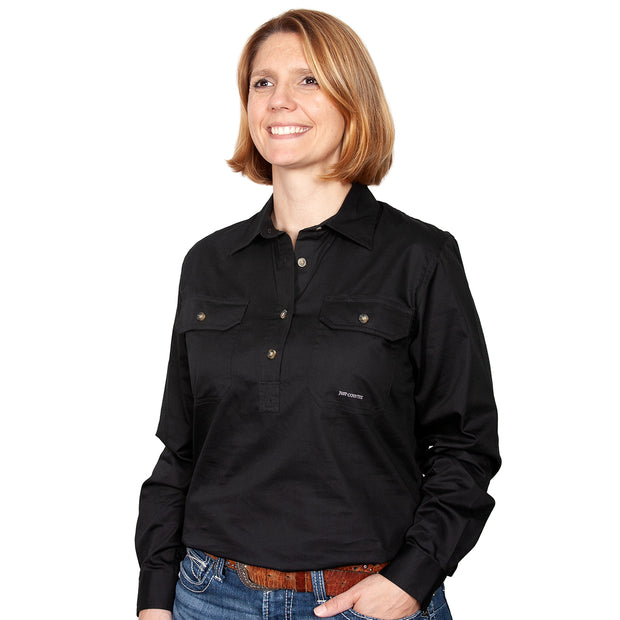 Just Country Workshirt Women's Jahna Black front