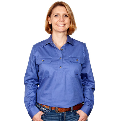 Just Country Workshirt Women's Jahna Blue front