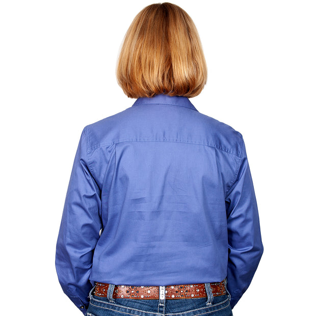Just Country Workshirt Women's Jahna Blue back
