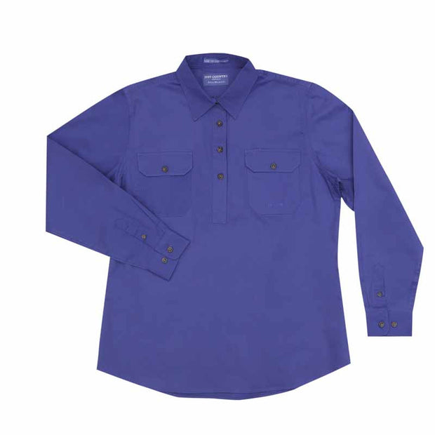 Just Country Workshirt Women's Jahna Blue