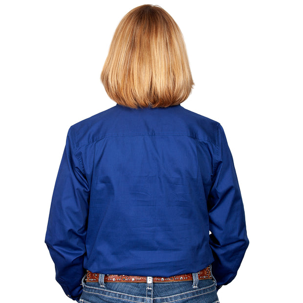 Just Country Workshirt Women's Jahna Cobalt back