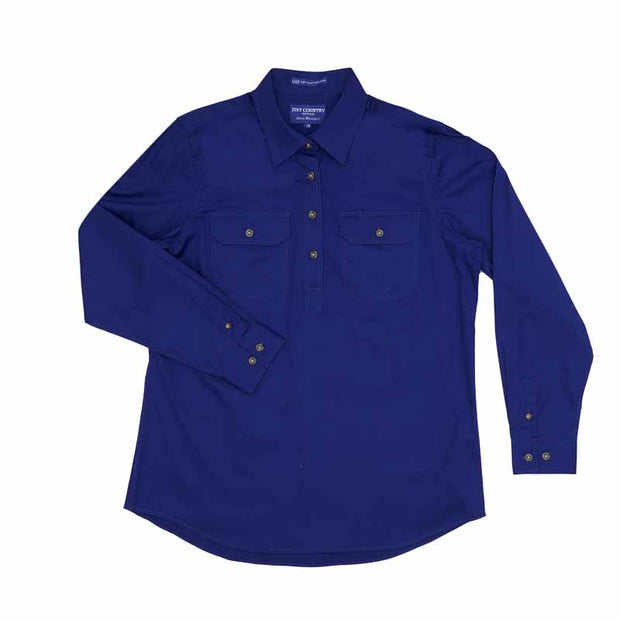 Just Country Workshirt Women's Jahna Cobalt