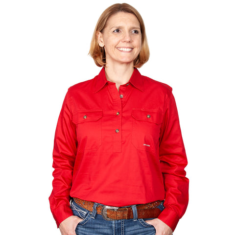 Just Country Workshirt Women's Jahna Chilli front