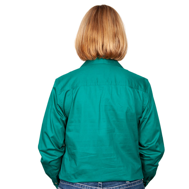 Just Country Workshirt Women's Jahna Dark Green back