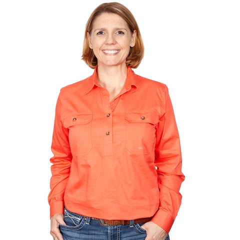 Just Country Workshirt Women's Jahna Hot Coral