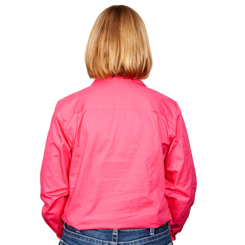 Just Country Workshirt Women's Jahna Hot Pink back