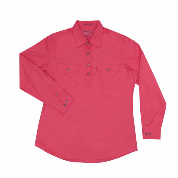 Just Country Workshirt Women's Jahna Hot Pink