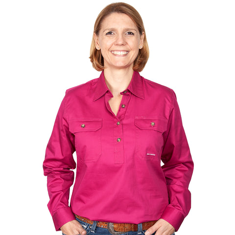 Just Country Workshirt Women's Jahna Magenta front