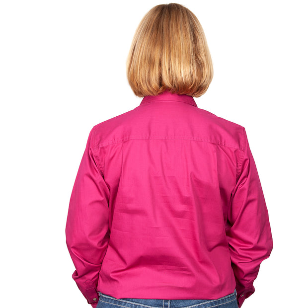Just Country Workshirt Women's Jahna Magenta back