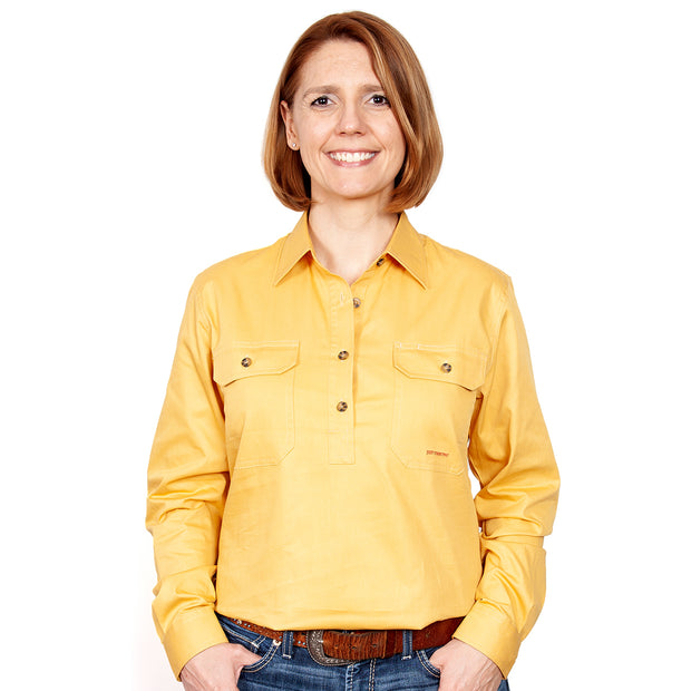 Just Country Australia Women's - Jahna - 1/2 Button Mustard