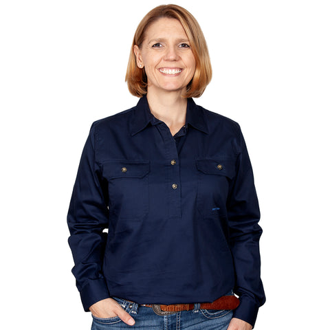 Just Country Workshirt Women's Jahna Navy front