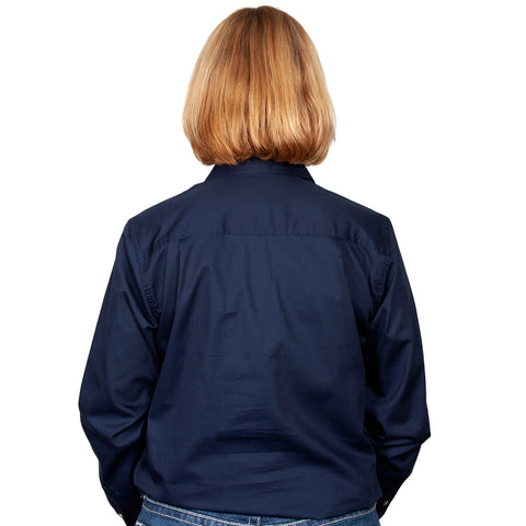 Just Country Workshirt Women's Jahna Navy back