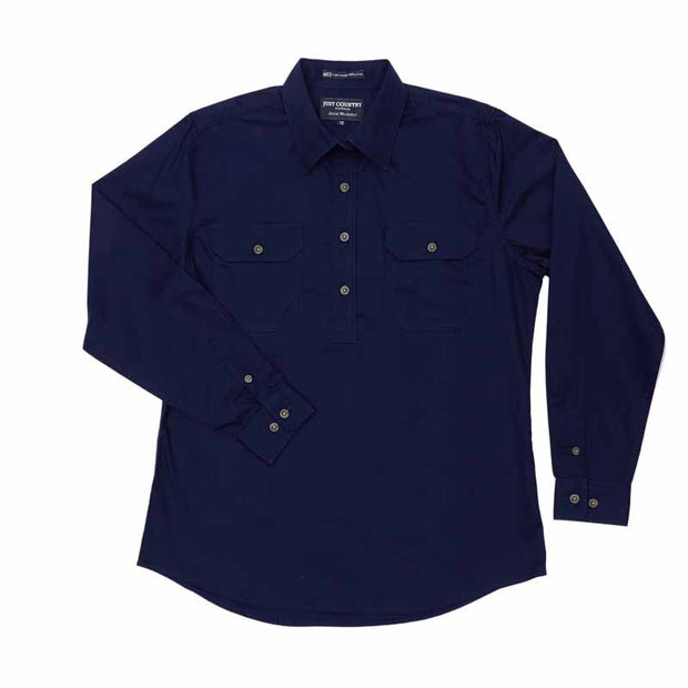 Just Country Workshirt Women's Jahna Navy Flat