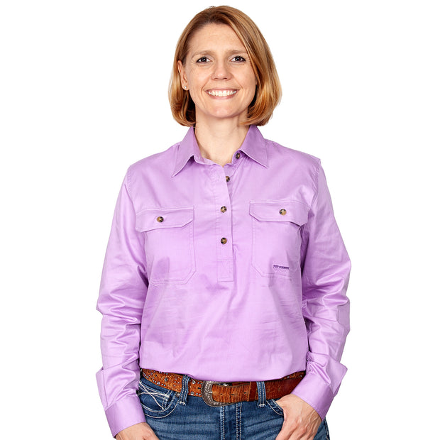 Just Country Workshirt Women's Jahna Orchid front
