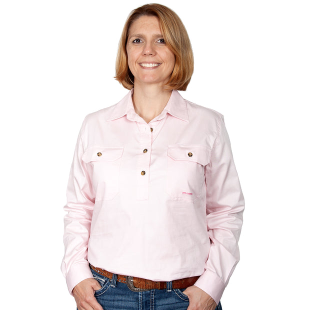 Just Country Workshirt Women's Jahna Pink FRONT