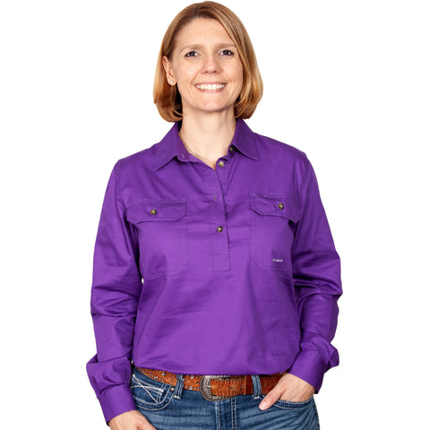 Just Country Workshirt Women's Jahna Purple front