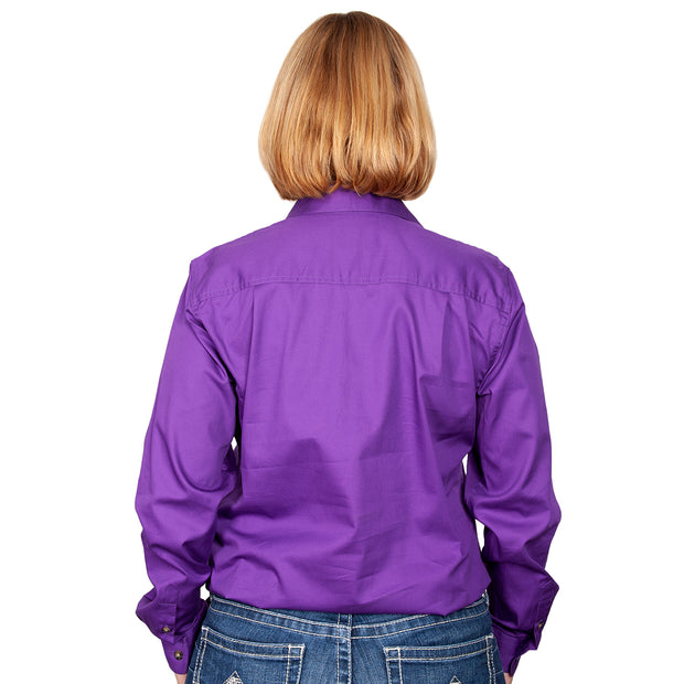 Just Country Workshirt Women's Jahna Purple back